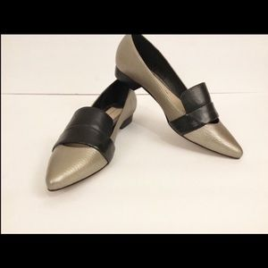 10 Crosby Derek Lam Audrey Leather Loafer Gray 7